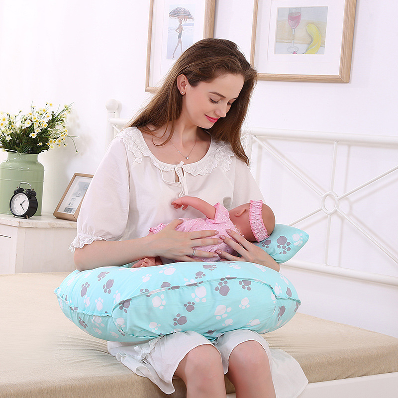 Adjustable Nursing Pillow and Positioner for Ultimate Comfort, U Shape Cute footprints Design, Best for... by Peralng