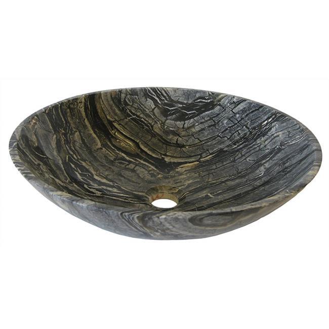 Novatto NOSV-LMORB Lunar Marble Vessel Sink & Oil Rubbed Bronze Umbrella Drain - image 1 of 1