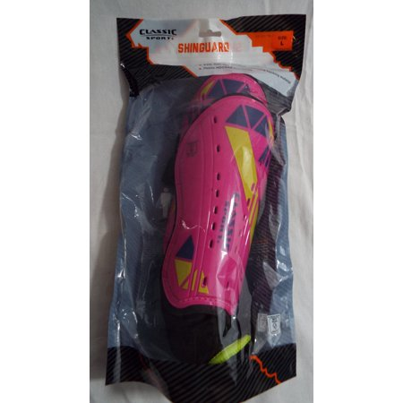 Classic Sport Youth Soccer Shin Guards, LARGE