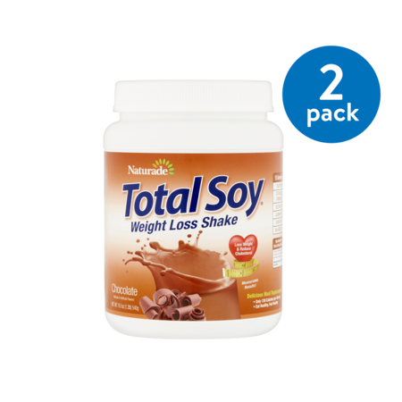 (2 Pack) Naturade Total Soy Chocolate Weight Loss Shake, 19.1 -