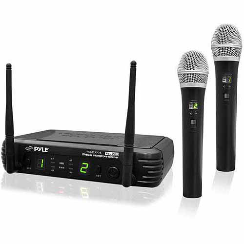 Pyle PDWM3375 Premier Series Professional 2-Channel UHF Wireless Handheld Microphone... by Pyle
