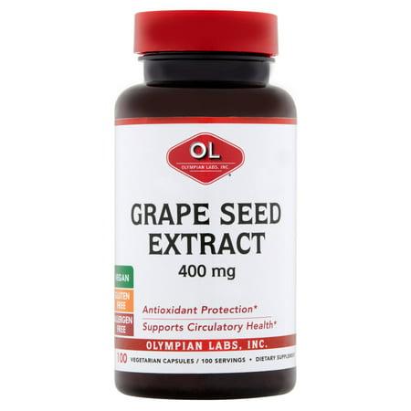 Olympian Labs Vegetarian Capsules Grape Seed Extract, 400 mg, 100 (Grape Seed Extract Capsules)