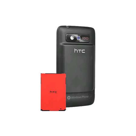 OEM HTC Trophy 6985 Extended Battery & Battery Door Combo (Black) (Htc Extended Battery)