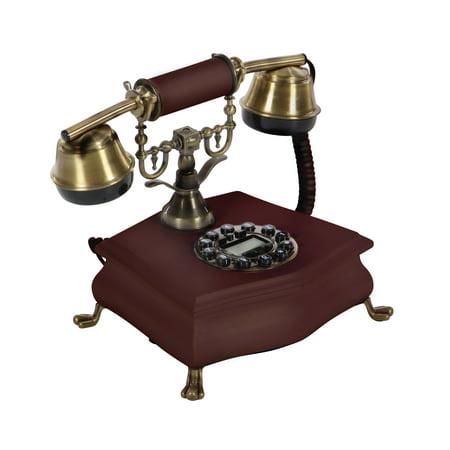 Vintage Birch Drum Set (Decmode Traditional 8 X 10 Inch Vintage Birch Wood Telephone, Maroon)