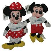 "Disney Store Quest Mickey & Minnie Mouse 8"" Bean Bag Plush Toy Set"
