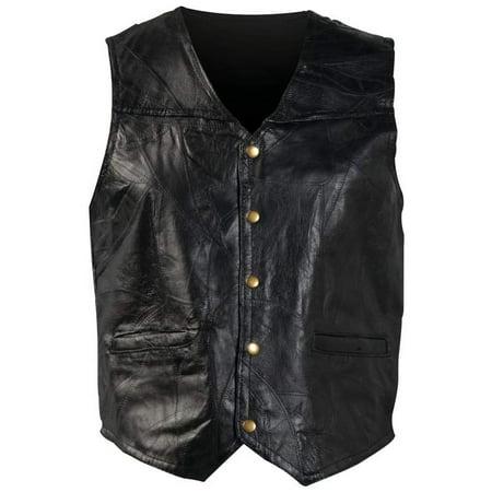 Navarre Leather (Giovanni Navarre® Italian Stone™ Design Genuine Leather Vest - Extra Large -)