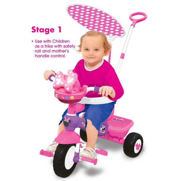 Disney Minnie Mouse Deluxe Trike Ride-On with Lights and Sounds