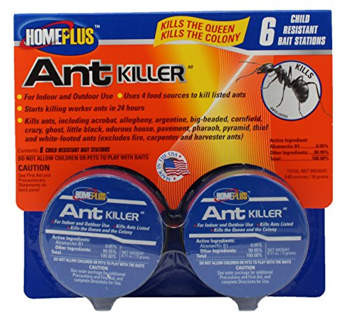 Home Plus Indoor/Outdoor Ant Killer Metal Bait Station (4 Food Sources)