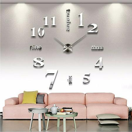 Lavaport Frameless Acrylic Art Digital Wall Clock Home (Acrylic Fish Clocks)