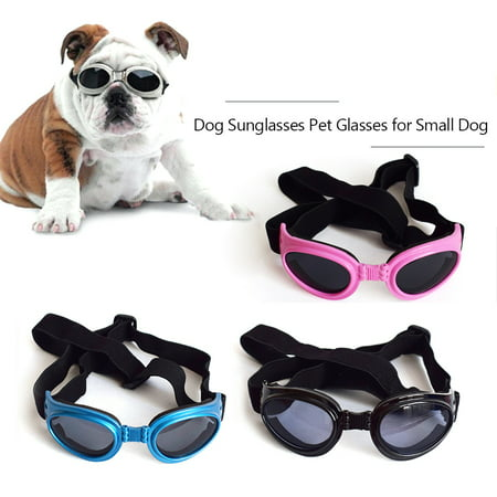 Dog Sunglasses Dog Goggles Pet Glasses UV Protection Sunglasses Adjustable Strap for Small (How Does Sunglasses Work)