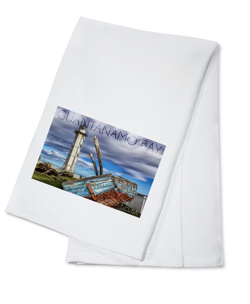 Shower Towel Broke: Lighthouse & Broken Ship