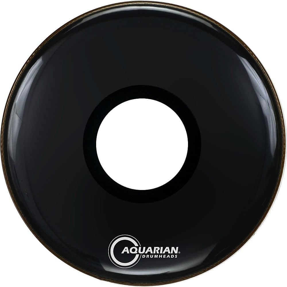 Aquarian Regulator Large Black Hole Drumhead Black 20 in. by Aquarian