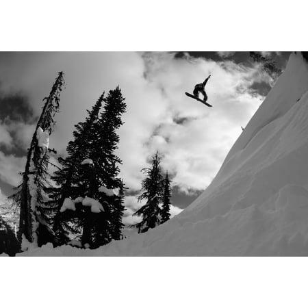 Professional Snowboarder Kevin Pearce Makes A Big Air Jump Canada Canvas Art   Dean Blotto Gray  Design Pics  38 X 24