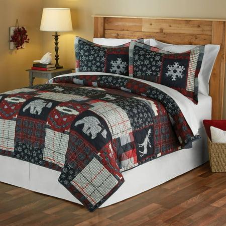 Mainstays Moose Lodge Holiday Quilt Set - Walmart.com : moose lodge quilt set - Adamdwight.com