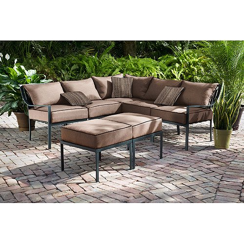 Stupendous Hometrends Braddock Heights 7 Piece Woven Sectional Set Pabps2019 Chair Design Images Pabps2019Com