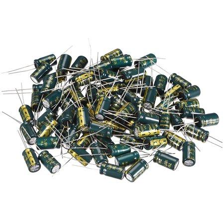 Aluminum Radial Electrolytic Capacitor Low ESR 1000uF 10V 8x14mm 80pcs