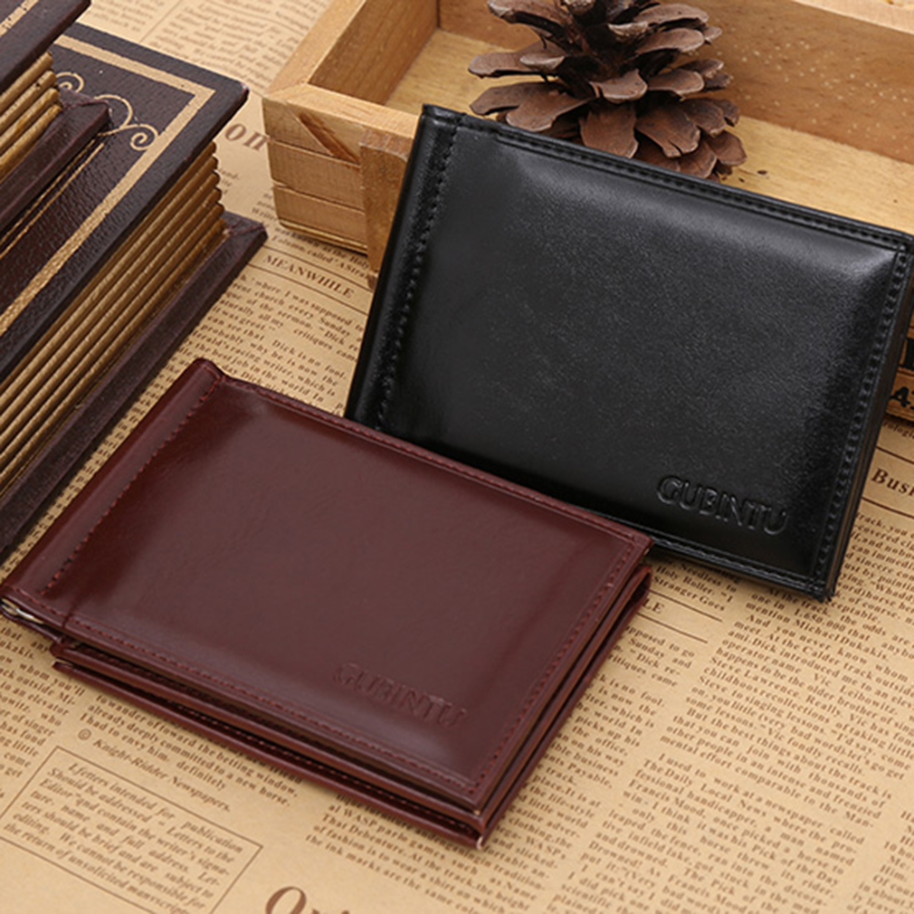 New Soft GUBINTU Man Purse Men PU Leather Horizontal Opening Style Wallet