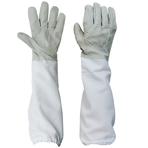 BESTOPE Beekeeping Gloves Canvas Protective Equipment Gol...