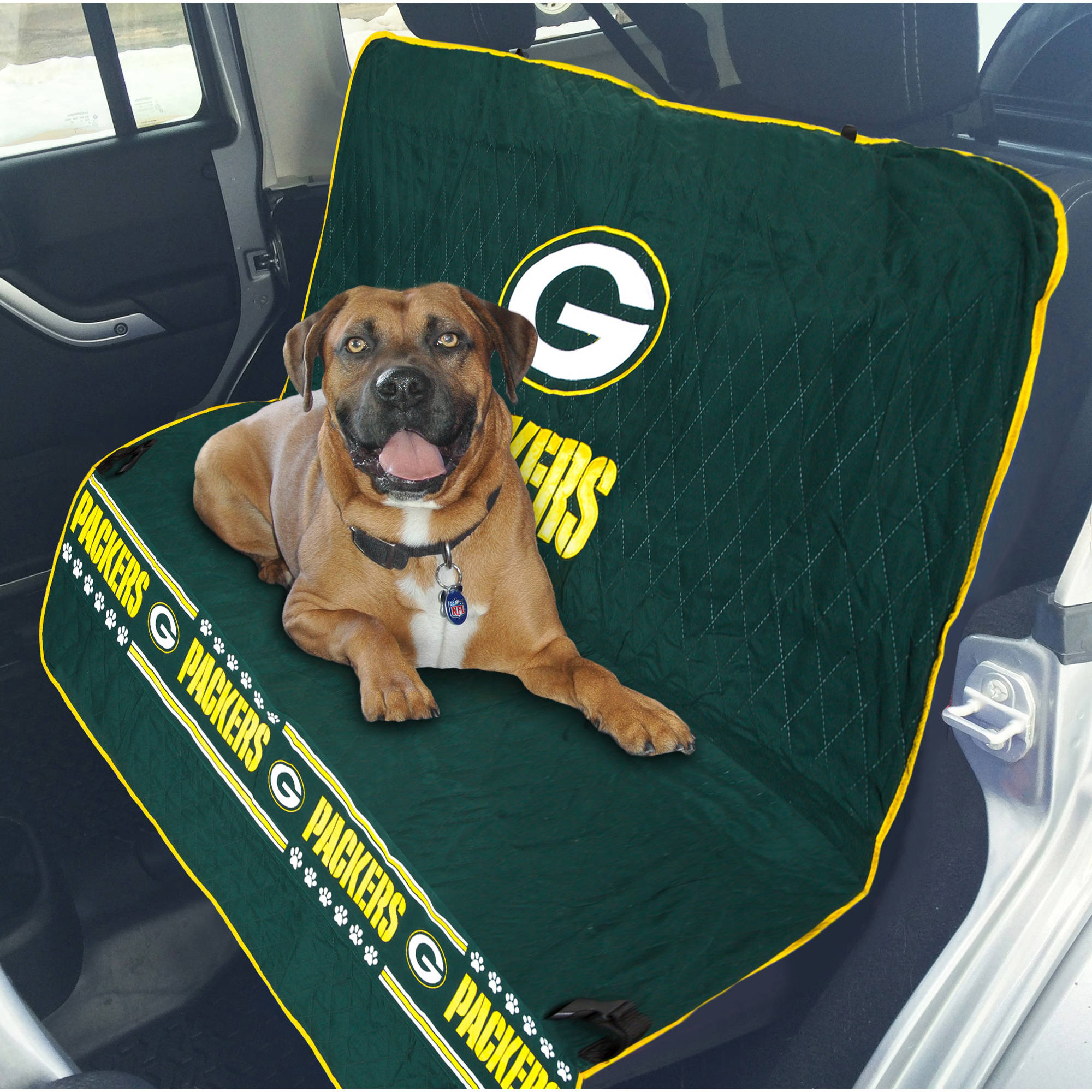 Pets First NFL Green Bay Packers Car Seat Cover