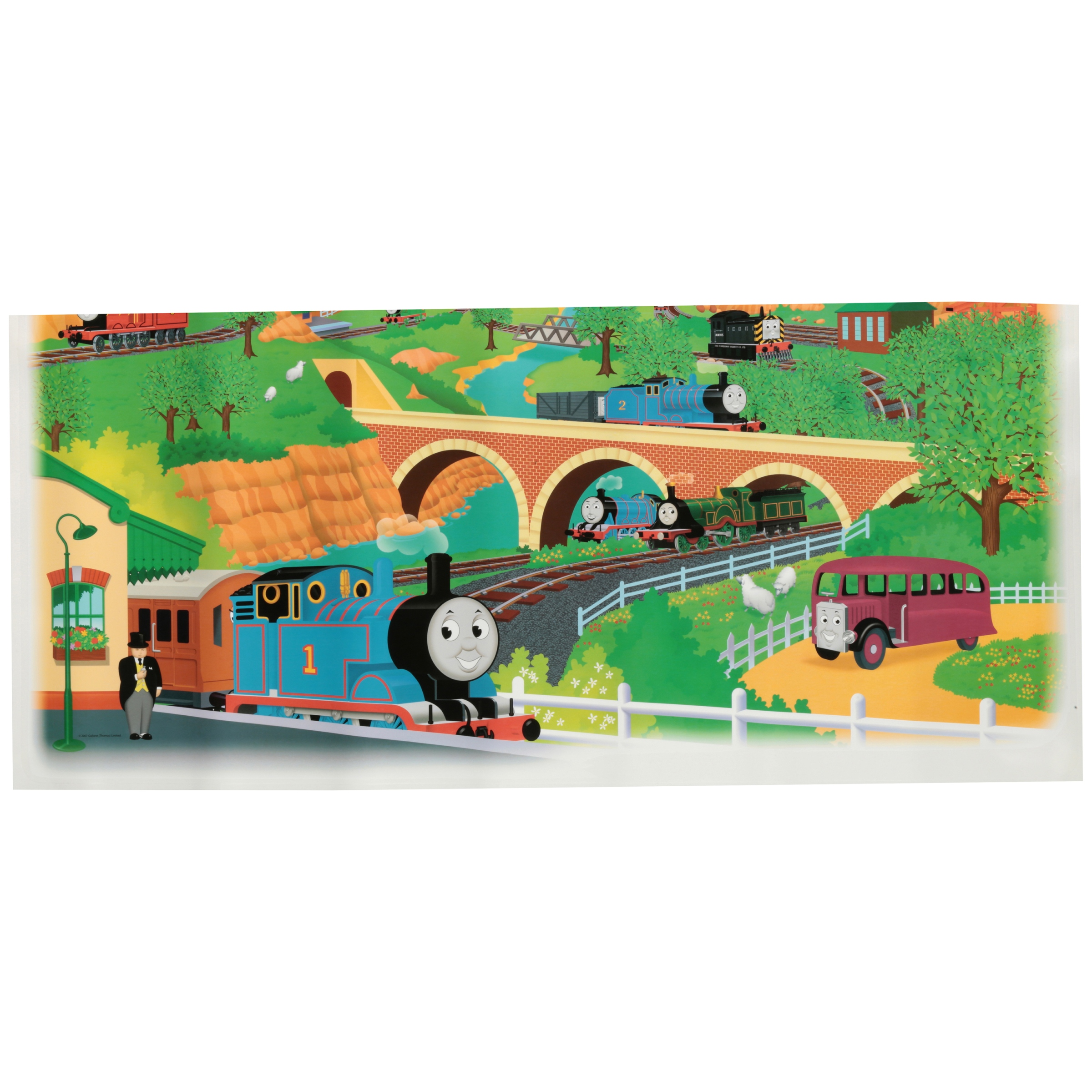 Thomas & Friends Peel and Stick Wall Decals 2 ct Pack