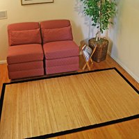 Contemporary Natural Bamboo Rug