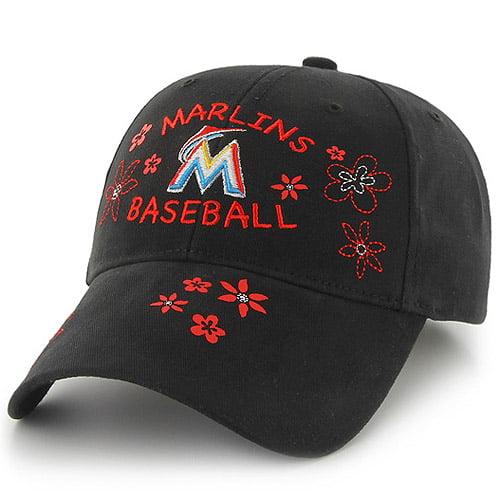 Miami Marlins '47 Youth Girl's Pollen MVP Adjustable Hat - Black - OSFA