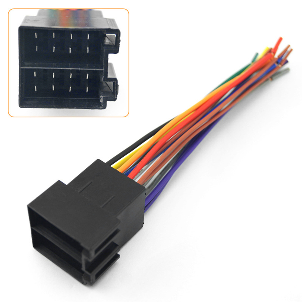 universal male iso radio wire wiring harness adapter. Black Bedroom Furniture Sets. Home Design Ideas