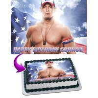 John Cena WWE Edible Cake Image Topper Personalized Icing Sugar Paper A4 Sheet Edible Frosting Photo Cake 1/4 Edible Image for cake