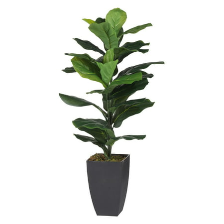 A & B Home Potted Fiddle Leaf Artificial Fig Tree