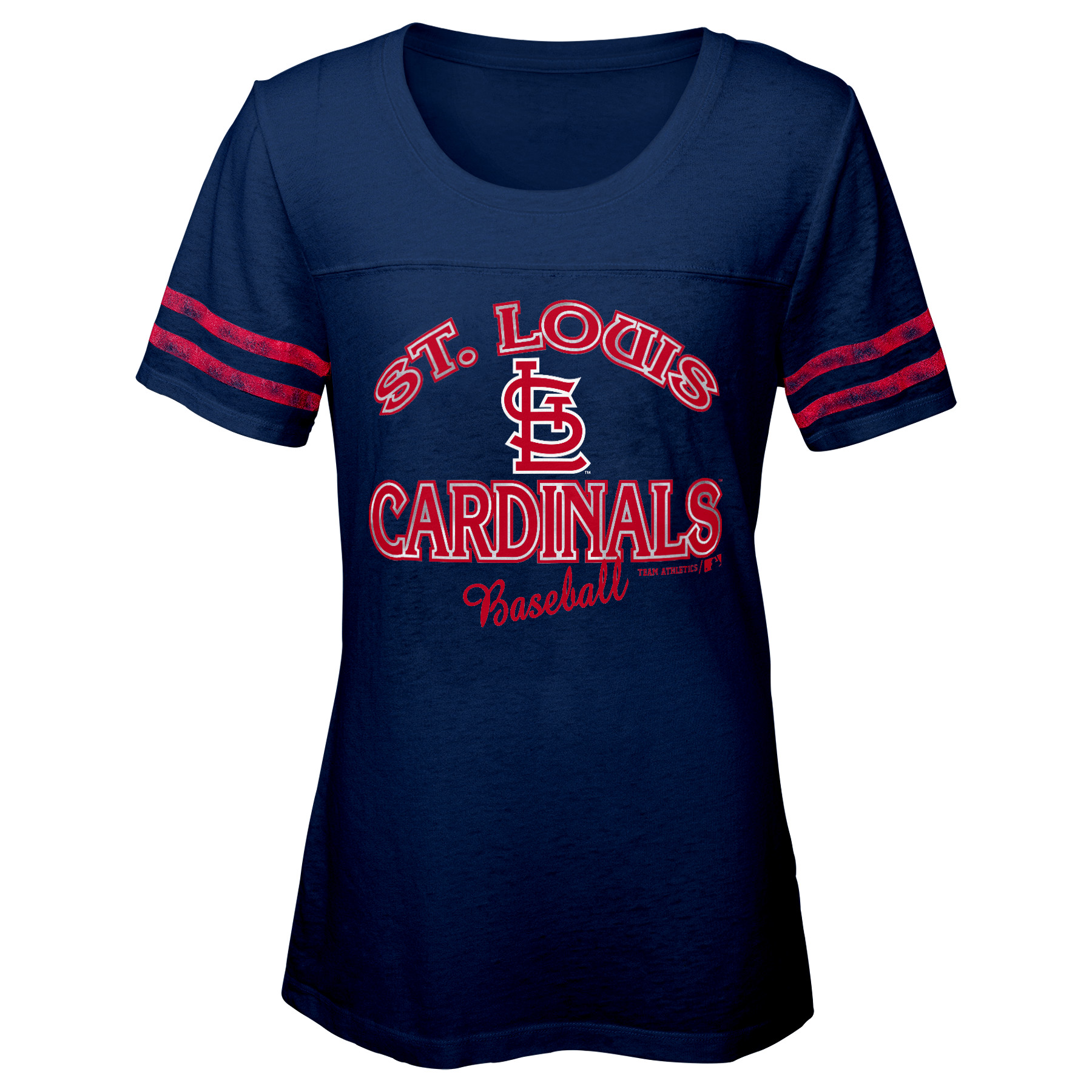 MLB St Louis CARDINALS TEE Short Sleeve Girls Fashion 60% Cotton 40% Polyester Alternate Team Colors 7 - 16