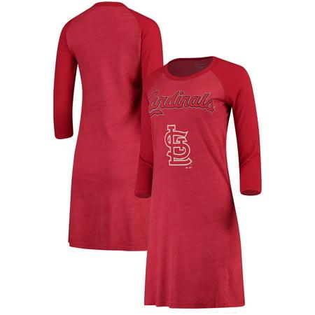 Cardinal Dress (St. Louis Cardinals Majestic Threads Women's Tri-Blend 3/4-Sleeve Raglan Dress - Red )