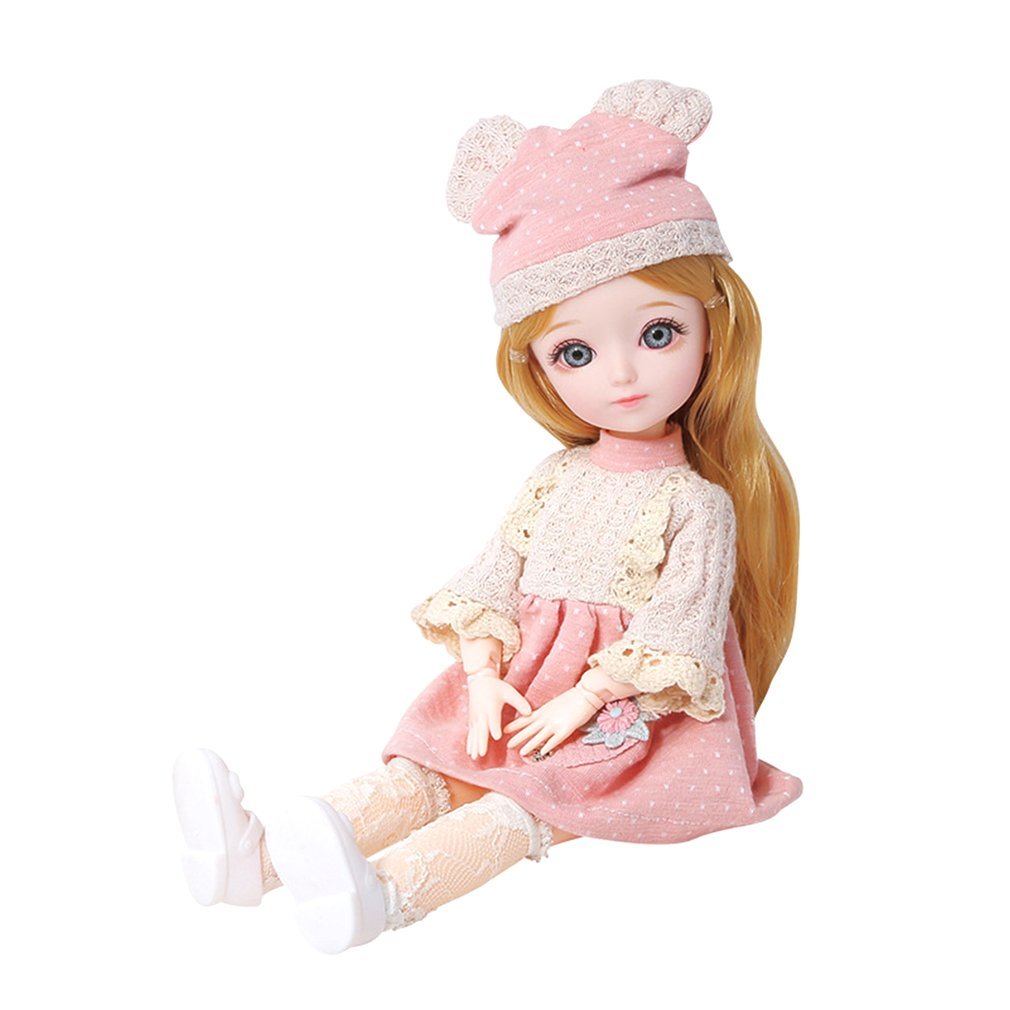 12 Inch 23 Movable Joints BJD Doll 31cm 1//6 Makeup Dress Up Cute Dolls AN