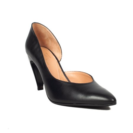 Robert Clergerie Women's 'Kross' Leather D'orsay Pump Heel Black Shoes ()