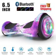 """Hoverboard Two-Wheel Self Balancing Electric Scooter 6.5"""" UL 2272 Certified, Print Coating with LED Light (Galaxy)"""