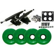 Randal 180 Black LONGBOARD TRUCKS Package 70mm T.GREEN Wheels