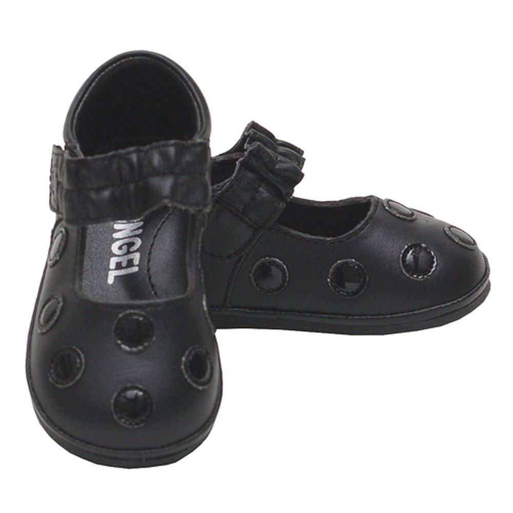 Black Polka Dot Adjustable Mary Jane Girls Shoes Baby 1- Toddler 7