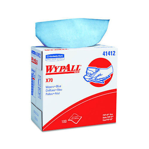 Kimberly-Clark Wypall X70 Wipers, Pop-Up Box in Blue