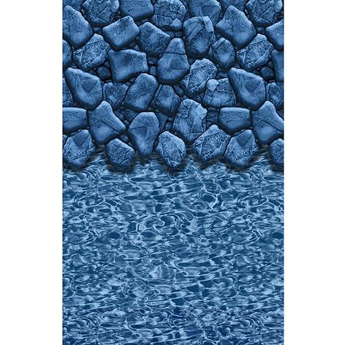 BlueWave LINERS NL364425 15' x 30' Oval Boulder Swirl Heavy Gauge Overlap Liner