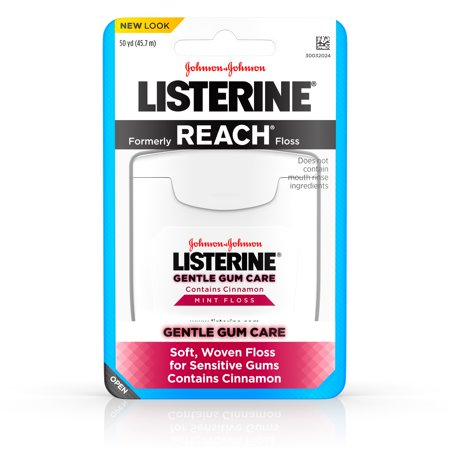 Listerine Gentle Gum Care Interdental Floss, Oral Care, Mint, 50 (Emergency Dental Care)