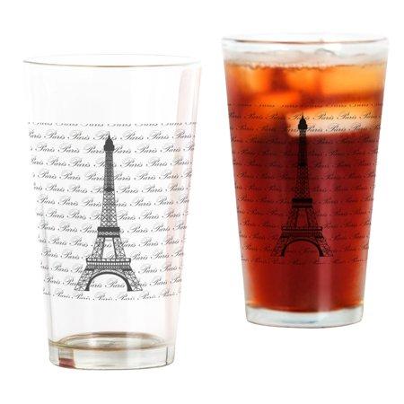 CafePress - Paris Background Eiffel Tower - Pint Glass, Drinking Glass, 16 oz. -