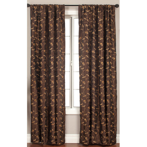 Softline Home Fashions Lili Curtain Panel in Chocolate