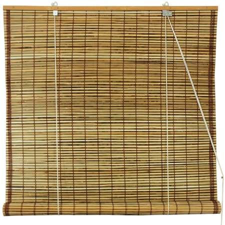 Burnt Bamboo Roll Up Blinds  Tortoise