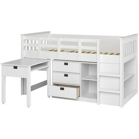 Corliving Twin Loft Bed Desk Storage Multiple