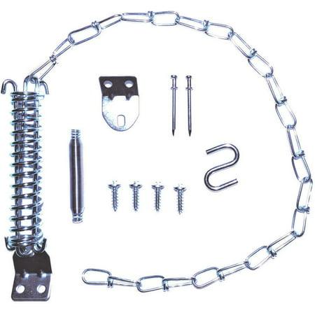 ProSource Storm Door Stop Chain Kit, 15-1/2 In H, Steel, Zinc Plated (Plated Door Chain)