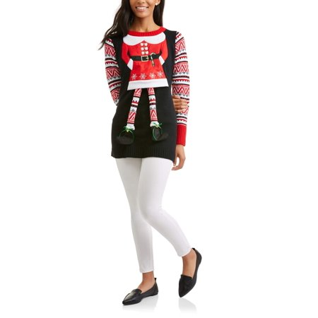 holiday time womens ugly christmas sweater tunic