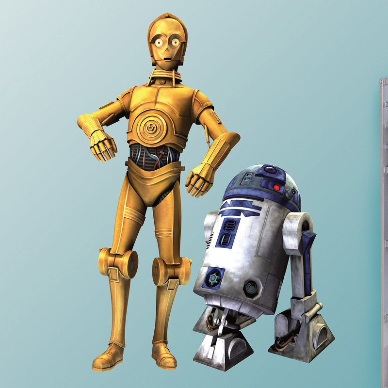 Star Wars C3PO/R2D2 Combo Wall Decal