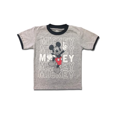 Short Sleeve Mickey Mouse Graphic Tee Shirt (Little Boys) (Mickey Mouse Tv For Sale)