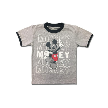 Short Sleeve Mickey Mouse Graphic Tee Shirt (Little Boys) - Disney Boo Halloween Shirt