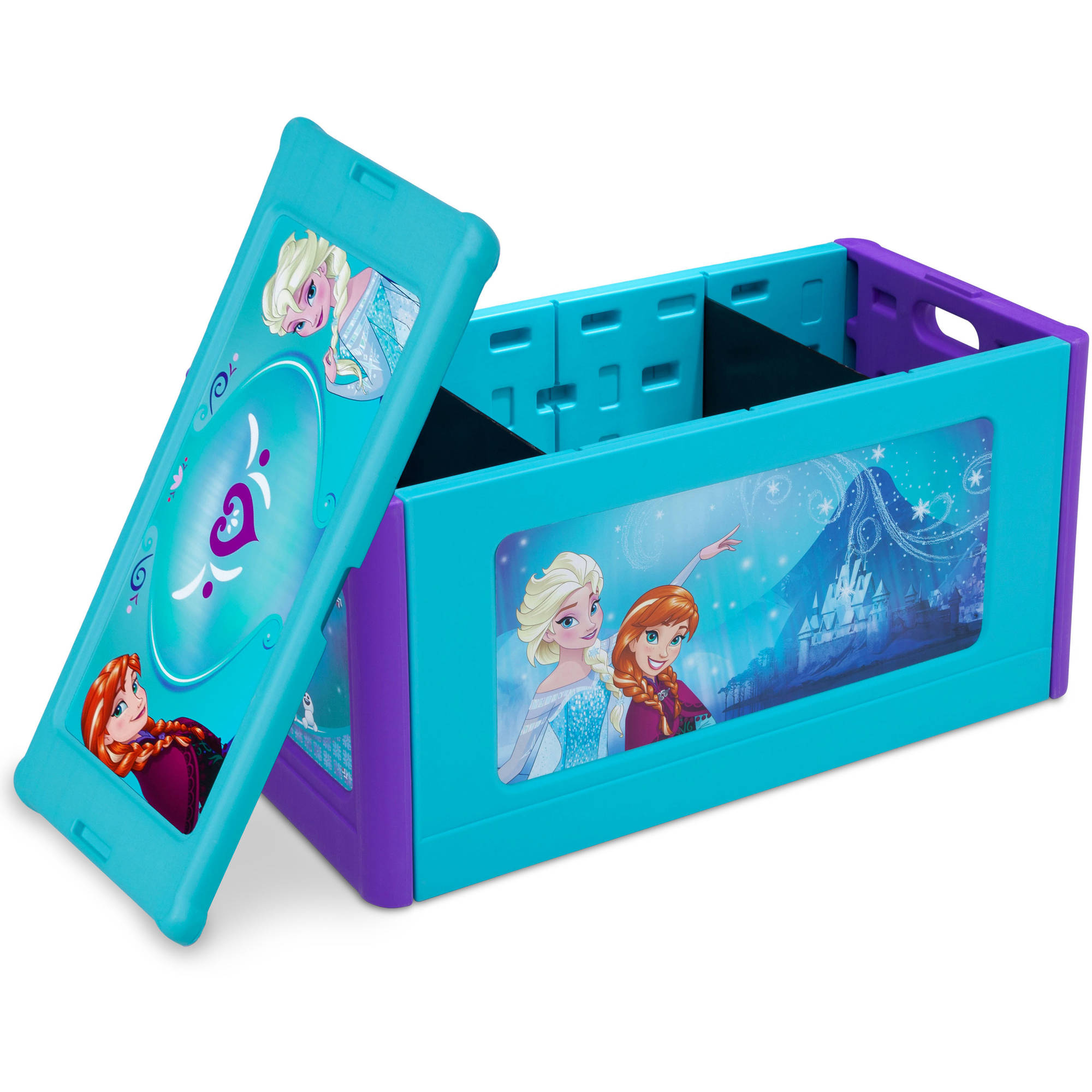 Disney Frozen Store And Organize Plastic Toy Box By Delta Children