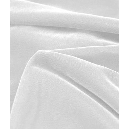 Fairvel White Micro Velvet Fabric - by the Yard By Online Fabric ...